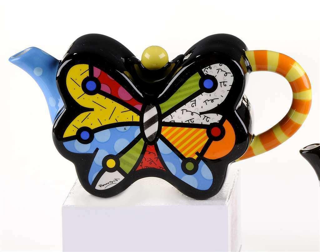 Romero Britto Rare Collectible Mini Teapot Butterfly #331822