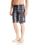 O'Neill Men's Santa Cruz Plaid Board Short, Black, 34 - $69.29