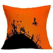 Halloween Pillow Case Sofa Waist Throw Cushion Cover Home Decoration - $21.88