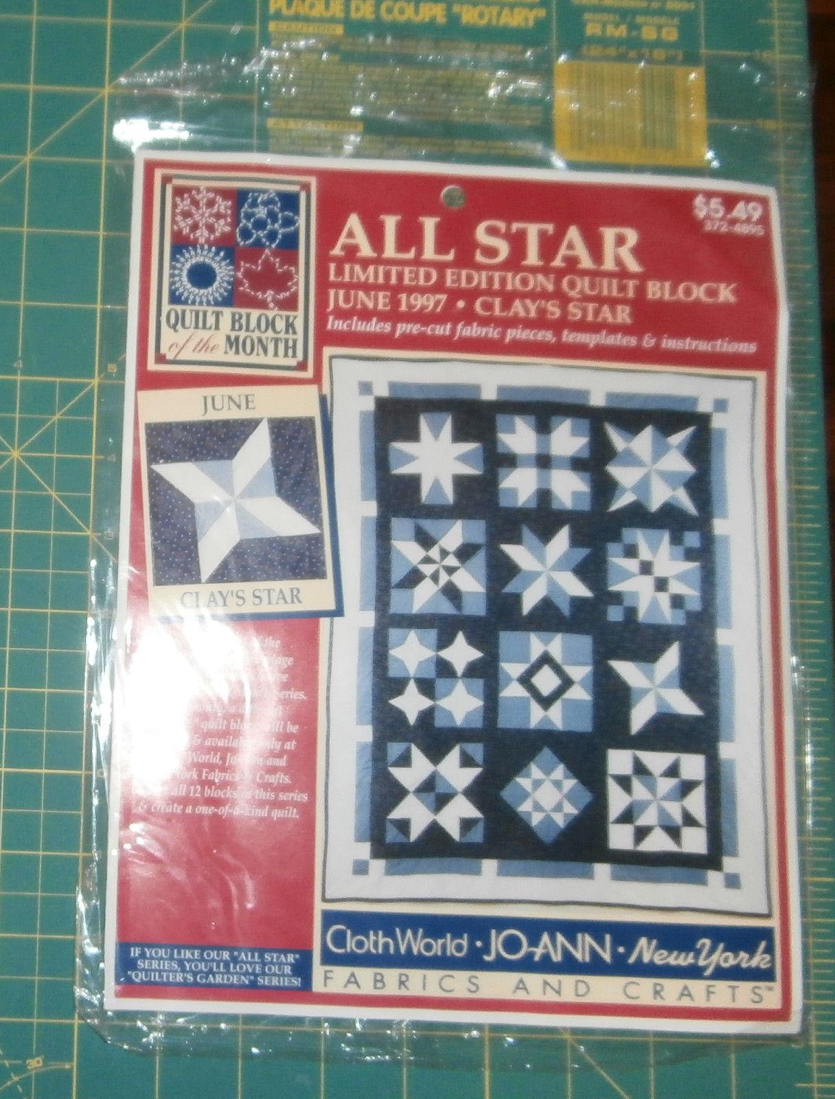 Clay's Star June 1997 All Star Quilt Block and 50 similar items : joann fabrics quilt kits - Adamdwight.com
