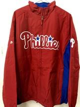 Majestic MLB Jacket Philadelphia Phillies Team Red sz M - $49.49