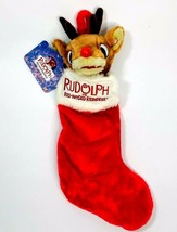 Gemmy Rudolph the Red Nosed Reindeer Animated Christmas Stocking NWT - $27.76