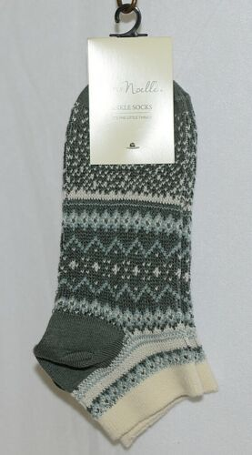 Simply Noelle Brand Sage Green Light Blue One Size Fits Most Womens  Ankle Socks