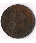 1916 France 5 Centimes Liberty Head Foreign World Coin KM 842 Bronze WWI - $9.89