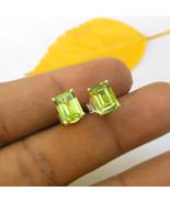 Peridot Gemstone Stud Earring Silver Post Studs Peridot Jewelry 925 Soli... - $36.15