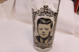JFK drinking glass tumbler Commemorative presidential Kennedy Collectible - $8.72