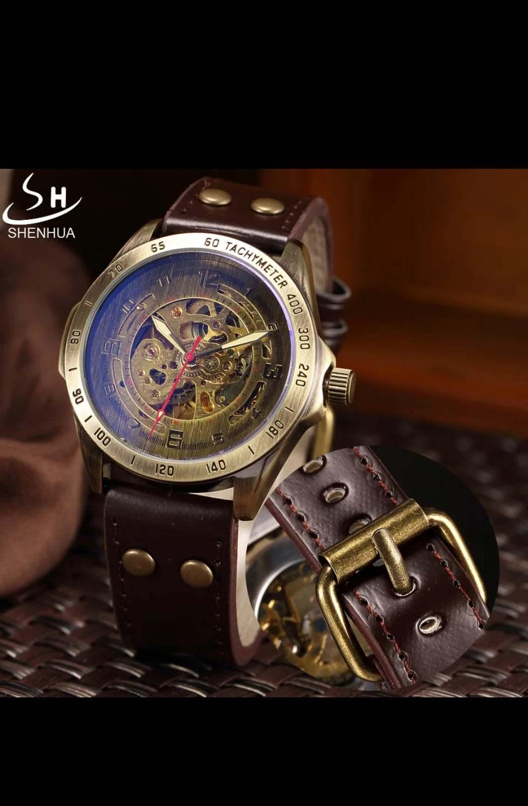Luxury Vintage Retro Automatic Mechanical Watch- Automatics Self-Wind- Antique w image 2