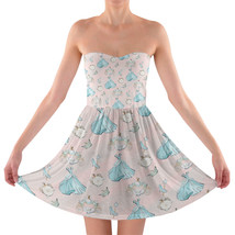 Almost Midnight Cinderella Inspired Sweetheart Strapless Skater Dress - $42.99+