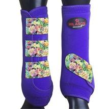 M - Hilason Horse Medicine Sports Boots Rear Hind Leg Purple U-US-M - $65.33