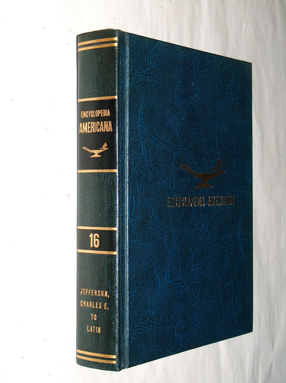 Primary image for 1966 Encyclopedia Americana Replacement Blue Ed 16 Jefferson, Charles E To Latin