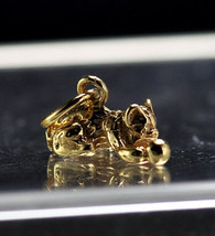 NICE Cat kitten playing with ball Gold plated Charm kitty - $19.11