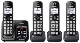 Panasonic Link2Cell DECT 6.0 4-Handset Cordless Phone with Caller ID & A... - $98.99
