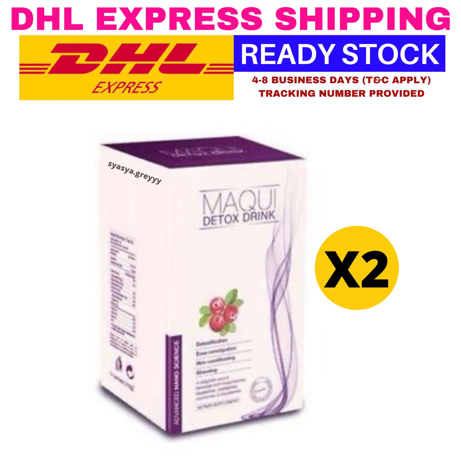 2 Boxes MAQUI DX / Detox Drink 100% Natural Berries Slimming Express - $72.27