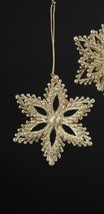 KURT S. ADLER GOLD GLITTER SNOWFLAKE CHRISTMAS TREE ORNAMENT - $5.88
