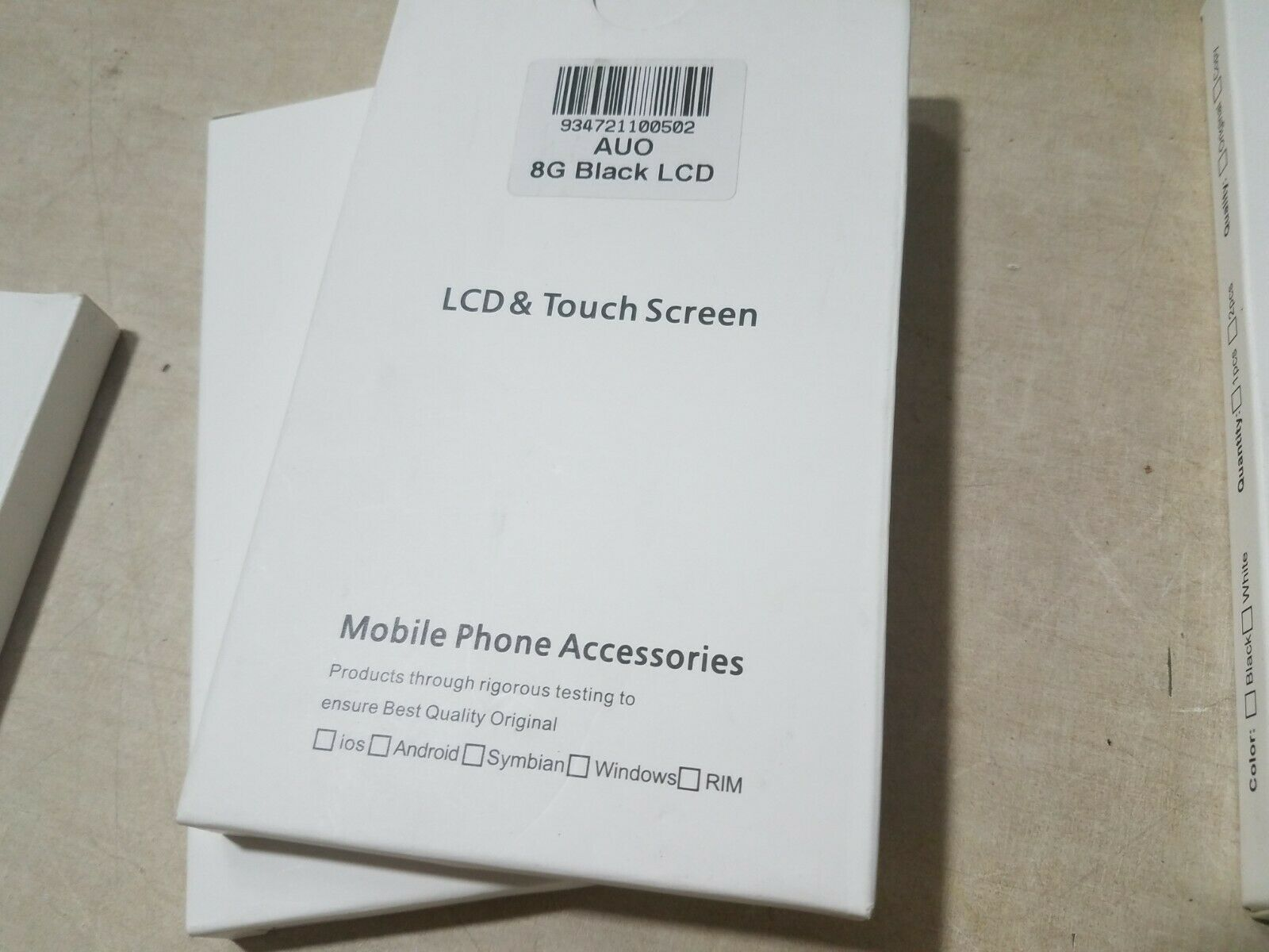 HUGE LOT OF 25  NEW IPHONE LCD AND TOUCH SCREEN DIGITIZERS
