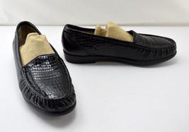 SAS Tripad Comfort Black Embossed Crocodile Leather Loafers - Women's 8M - $35.10