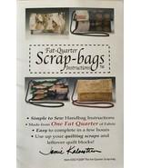 Kalvestran 202 Sewing Pattern Fat Quarter Scrap-bags - $14.99