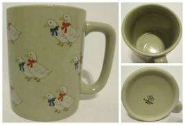 Vintage Otagiri Coffee Mug Cup Country Duck Pattern Tan Brown Collectible Cerami - $9.87