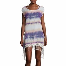 Arizona Sleeveless Crochet Fringe Chiffon Swim Coverup New Size L Msrp $... - $404,10 MXN