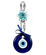 EA Gift Global Turkish Glass Blue Evil Eye Bead Nazar with Lotus Flower ... - $13.19