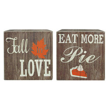 Darice Fall Printed Sign: MDF, 7 x 7 inches, 2 assorted styles Fall Love... - $14.99