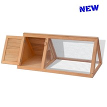 Bunny Rabbit Cage Hutch Wood Small Animal Outdoor Pet House Ferret Guine... - $93.50