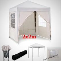 White Waterproof Garden Pop Up Wedding Party Folding Tent Canopy  Curtai... - $110.86