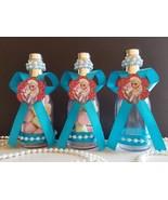Frozen Elsa 12 Fillable Champagne Bottles Birthday Girl Party Favors Dec... - $16.99