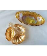 Vintage Carnival Verre Iridized Bols Plats Décor Maison de Collection Fleur - $72.37