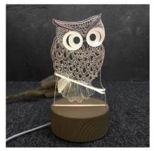 3D LED Lamp Creative Wood grain Night Lights Novelty Illusion Night Illusion 9 - $12.40