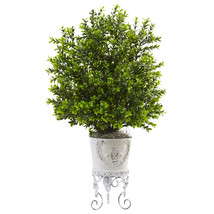 Boxwood with Metal Planter - €55,04 EUR
