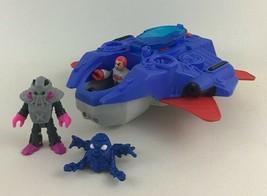 Imaginext Alpha Explorer Alien Plane Spaceship 4pc Lot Space Creature Pi... - $24.70