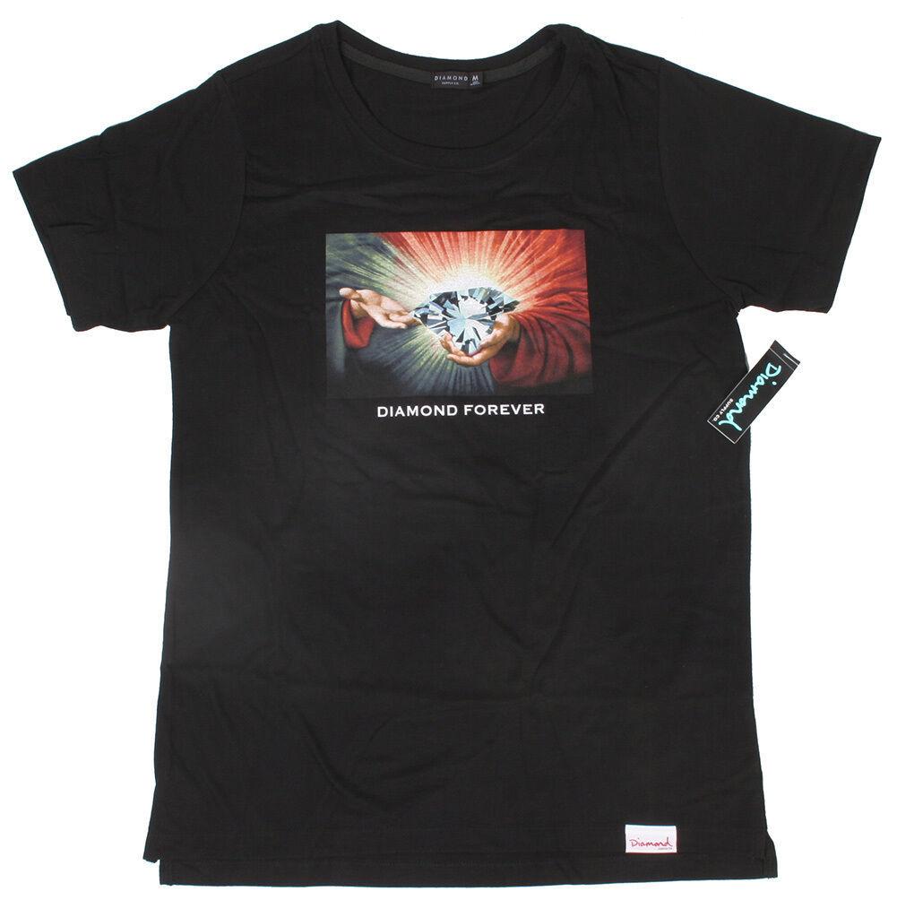 Diamond Supply Co. Forever Hombres Camiseta Nwt Negro