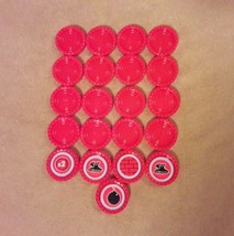 CONNECT 4 Game Replacement pieces parts 21 RED CHECKERS w/ POWER CHECKER... - $8.59