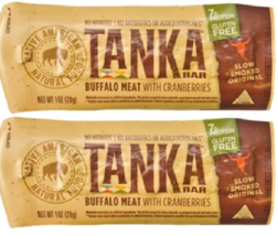Keto snacks: Tanka Bar Buffalo Meat Natural Cranberry 1 oz 2 bars (6 net carbs) - $12.87