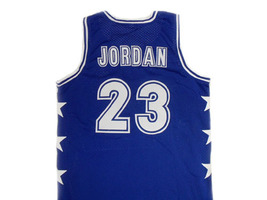 Michael Jordan #23 McDonald's All American Basketball Jersey Blue Any Size image 2