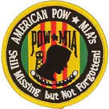 United States American POW  MIAs Still Missing But not Forgotten Patch - $11.87