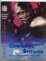 Dallas Cowboys v Cleveland Browns 1965 Illustrated Meredith Lilly Hayes ... - $27.72