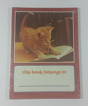 Cat Book Plate Stickers 20 Gummed 4x3in 1993 Kitten Sealed Vintage Belon... - $9.99