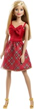 Barbie Holiday Doll Plaid Skirt Red Bow Dress Christmas Collectors Gifts... - $39.99