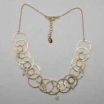 Collar Gargantilla Plata 925 Lámina Oro a Círculos By Maria Ielpo Hecho ... - $192.94