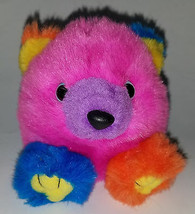 Cosmo Bear Swibco Bean Bag Plush Puffkins 1994 Multicolor Pink Blue Oran... - $10.84