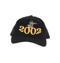 Vtg Walt Disney World Mickey Mouse Spell Out Adjustable Strapback Dad Hat Black - $24.70
