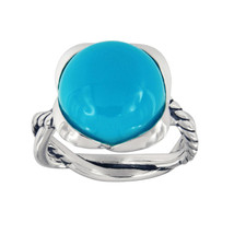 David Yurman Continuance Ring With Amazonite, 14mm - $360.00