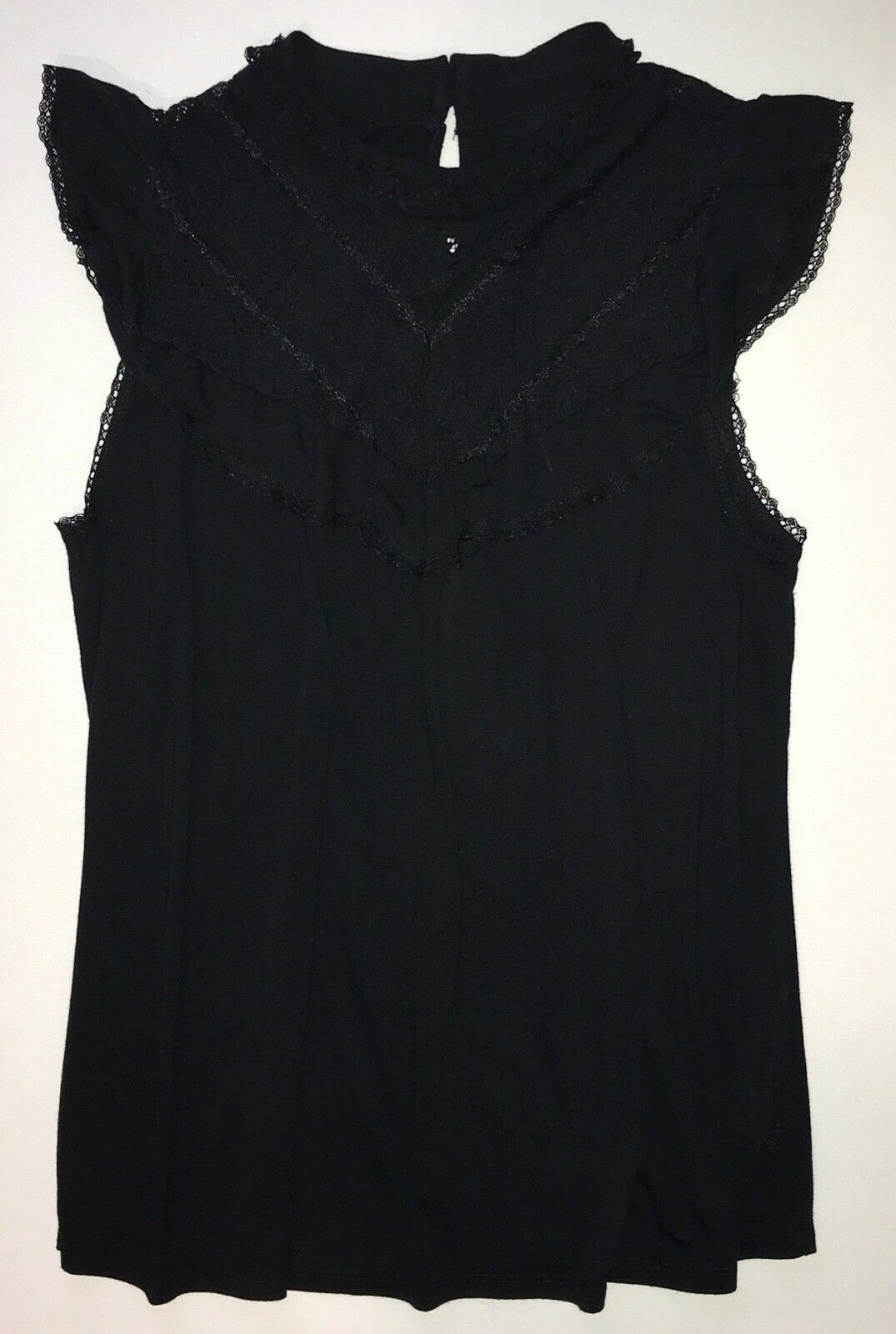 Primary image for Lace Bib Front Sleeveless Blouse in Black by Mossimo in Medium