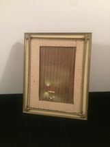 "Vintage 40s silvery gold double ornate 8"" x 10"" frame with easel back"