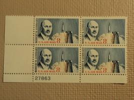 USPS Scott C69 8c US Air Mail Robert H Goddard 1964 Mint NH Plate Block ... - $8.83
