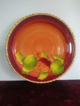 """Apples by Laurie Gates / Gates Ware ROUND SERVING PLATTER 14 3/4"""" - $63.58"""