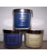 3 Bath & Body Works Candle 4  oz- Juniper Berry Pine, Pomegranate, Morni... - $26.50