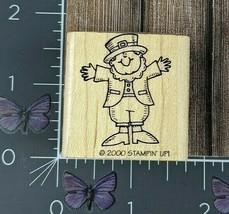 Stampin' Up! Leprechaun Standing Rubber Stamp 2000 St Patricks Wood #AF148 - $6.68